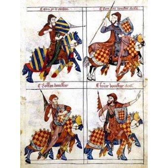 Tableaux cartes du monde, dessins - Tableau -Libro de los caballeros de Santiago-1- - _Anónimo Español