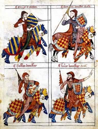 tableaux-cartes-du-monde-dessins - Tableau -Libro de los caballeros de Santiago-1- - _Anónimo Español