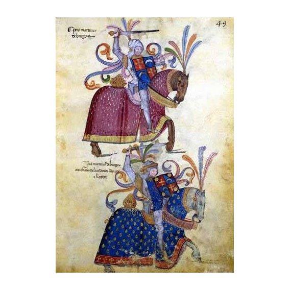 imagens de mapas, gravuras e aquarelas - Quadro -Libro de los caballeros de Santiago-4-
