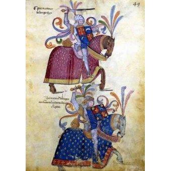 Tableaux cartes du monde, dessins - Tableau -Libro de los caballeros de Santiago-4- - _Anónimo Español