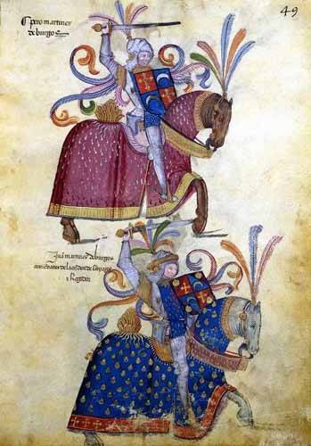 tableaux-cartes-du-monde-dessins - Tableau -Libro de los caballeros de Santiago-4- - _Anónimo Español