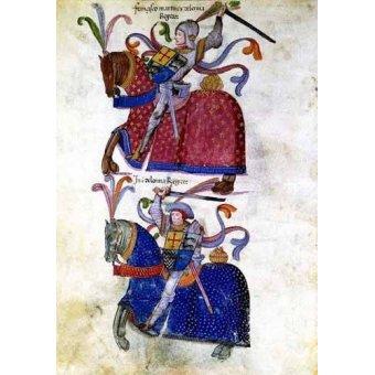 Tableaux cartes du monde, dessins - Tableau -Libro de los caballeros de Santiago-5- - _Anónimo Español