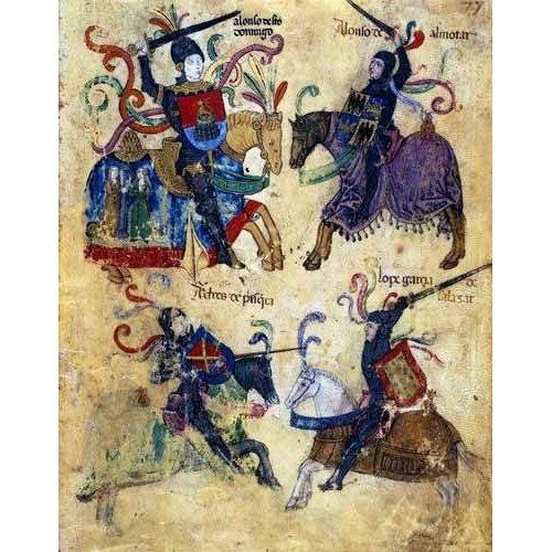 imagens de mapas, gravuras e aquarelas - Quadro -Libro de los caballeros de Santiago-6-