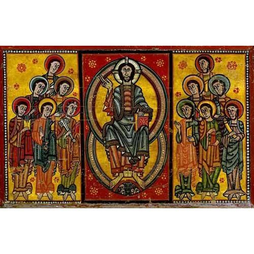 Tableau -Pantocrator y Apóstoles-
