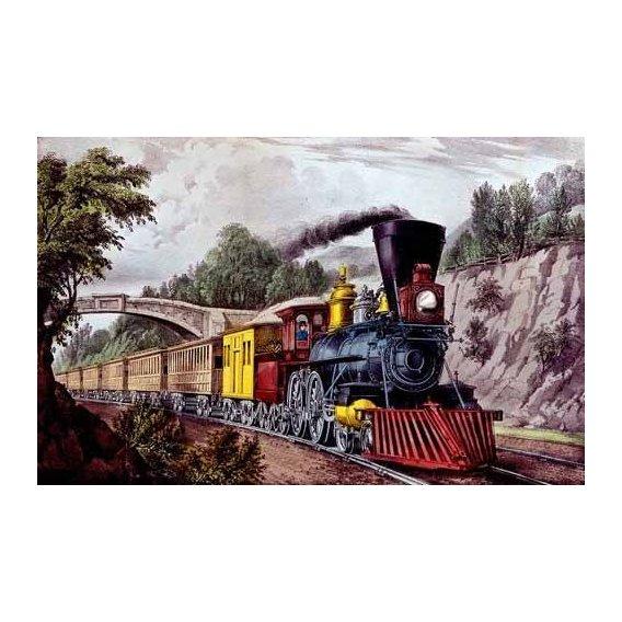 imagens de mapas, gravuras e aquarelas - Quadro -Tren rápido-