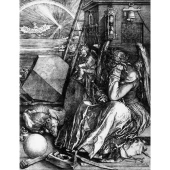 Tableaux cartes du monde, dessins - Tableau -Melancolía I- - Dürer, Albrecht (Albert Durer)
