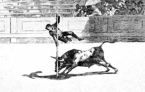 tableaux-cartes-du-monde-dessins - Tableau -Tauromaquia num. 20: Ligereza y atrevimiento- - Goya y Lucientes, Francisco de