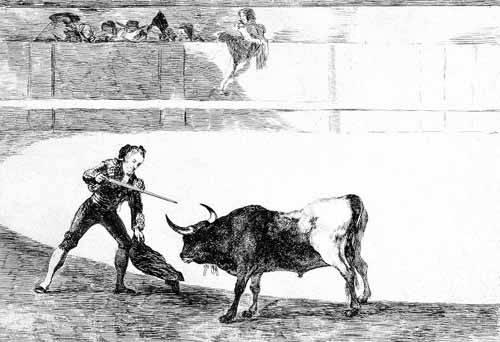 tableaux-cartes-du-monde-dessins - Tableau -Tauromaquia num.30: Pedro Romero matando a toro parado- - Goya y Lucientes, Francisco de