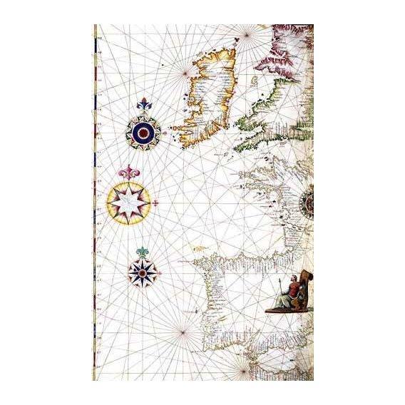 imagens de mapas, gravuras e aquarelas - Quadro -Atlas portugués, 1565 (Diego Homm)- MAPAS