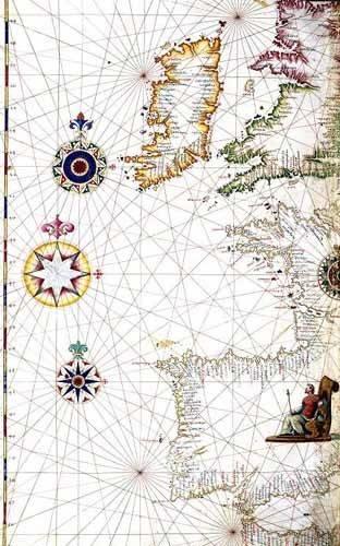 tableaux-cartes-du-monde-dessins - Tableau -Atlas portugués, 1565 (Diego Homm)- MAPAS - Anciennes cartes