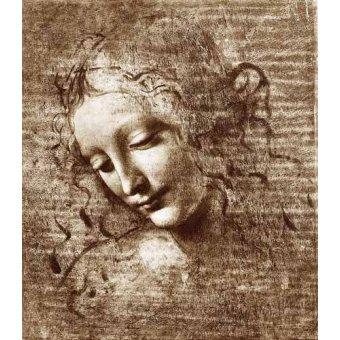 - Tableau -Tête de dame- - Vinci, Leonardo da