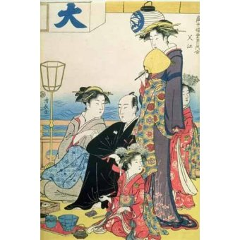 Tableaux orientales - Tableau -Women of the Gay Quarters (right hand panel of diptych)- - Kiyonaga, Torii