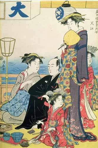 tableaux-orientales - Tableau -Women of the Gay Quarters (right hand panel of diptych)- - Kiyonaga, Torii