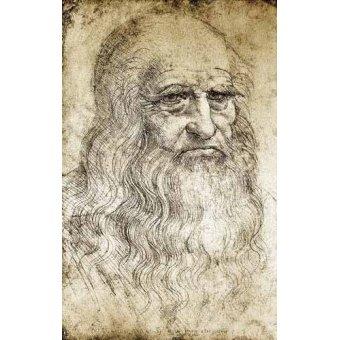 Tableaux cartes du monde, dessins - Tableau -Autorretrato de Leonardo da Vinci- - Vinci, Leonardo da