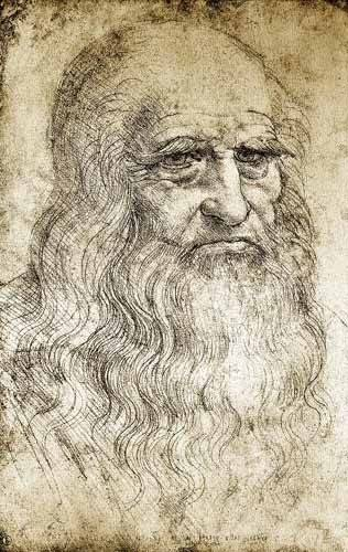 tableaux-cartes-du-monde-dessins - Tableau -Autorretrato de Leonardo da Vinci- - Vinci, Leonardo da
