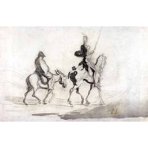 Tableau -Don Quixote and Sancho Panza, 1850-
