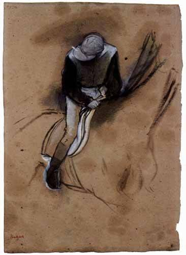 tableaux-cartes-du-monde-dessins - Tableau -Le jockey- - Degas, Edgar