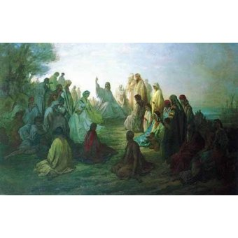 Tableaux cartes du monde, dessins - Tableau -Jesús predicando en la montaña- - Doré, Gustave