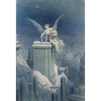 Tableaux cartes du monde, dessins - Tableau -Angel repartiendo regalos- - Doré, Gustave