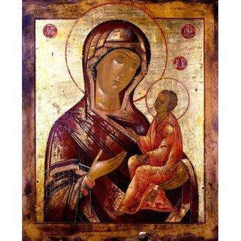 Tableaux religieuses - Tableau -La Virgen Hodogetria- - _Anónimo Ruso