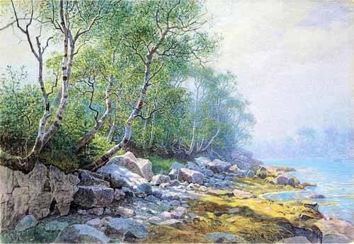 tableaux-cartes-du-monde-dessins - Tableau -Seal Harbor Mount Desert Maine- - Haseltine, William