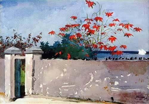 tableaux-cartes-du-monde-dessins - Tableau -Un Muro, Nassau- - Homer, Winslow