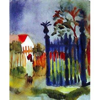 Tableaux cartes du monde, dessins - Tableau -La puerta del jardín- - Macke, August