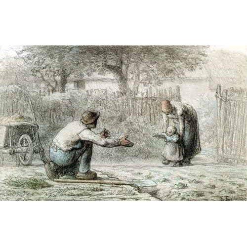 imagens de mapas, gravuras e aquarelas - Quadro -Los primeros pasos, 1859-
