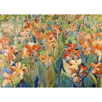 Tableaux cartes du monde, dessins - Tableau -Cama de flores- - Prendergast, Maurice