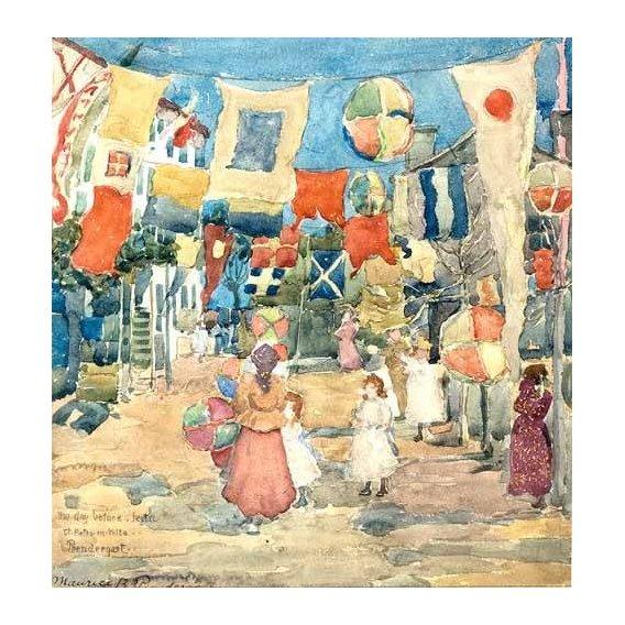 imagens de mapas, gravuras e aquarelas - Quadro -Fiesta Venice, S. Pietro in Volta-
