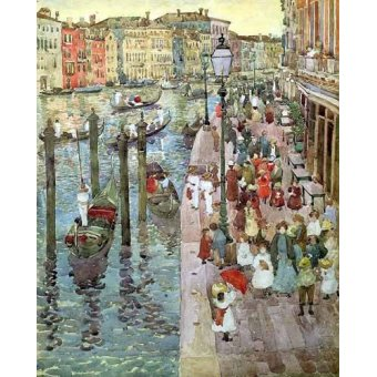 Tableaux cartes du monde, dessins - Tableau -Gran Canal de Venecia, 2- - Prendergast, Maurice