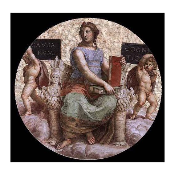 imagens de mapas, gravuras e aquarelas - Quadro -Stanza della Segnatura - Philosophy-