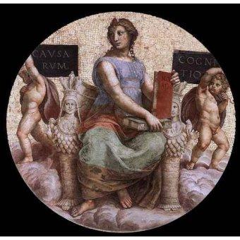 Tableaux cartes du monde, dessins - Tableau -Stanza della Segnatura - Philosophy- - Raphaël, Sanzio da Urbino Raffael