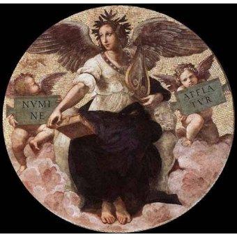 Tableaux cartes du monde, dessins - Tableau -Stanza della Segnatura - Poetry- - Raphaël, Sanzio da Urbino Raffael