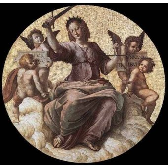 Tableaux cartes du monde, dessins - Tableau -Stanza della Segnatura - Justice- - Raphaël, Sanzio da Urbino Raffael