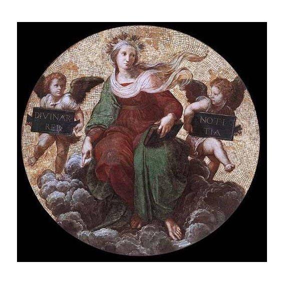 imagens de mapas, gravuras e aquarelas - Quadro -Stanza della Segnatura - Theology-