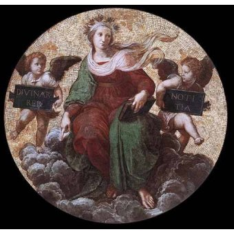 Tableaux cartes du monde, dessins - Tableau -Stanza della Segnatura - Theology- - Raphaël, Sanzio da Urbino Raffael