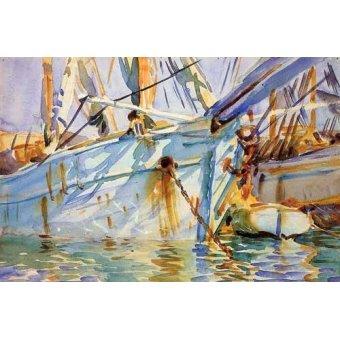 Tableaux cartes du monde, dessins - Tableau -En un puerto Levantino- - Sargent, John Singer