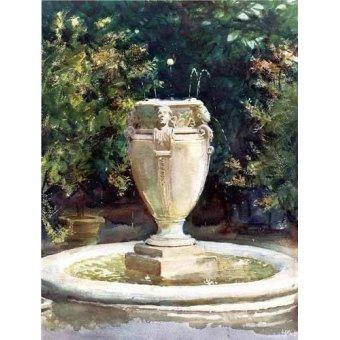 Tableaux cartes du monde, dessins - Tableau -Vase Fountain Pocantico- - Sargent, John Singer