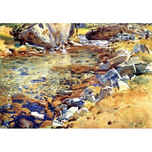 Tableau -Brook among Rocks-