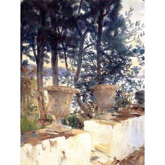 Tableaux cartes du monde, dessins - Tableau -Una terraza en Corfu- - Sargent, John Singer