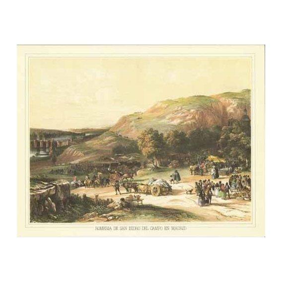 imagens de mapas, gravuras e aquarelas - Quadro -Romería de San Isidro del Campo en Madrid-