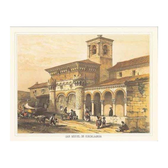 imagens de mapas, gravuras e aquarelas - Quadro -San Miguel de Guadalajara-