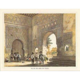 Tableaux cartes du monde, dessins - Tableau -Taller del moro en Toledo- - Villaamil, Jenaro Perez de