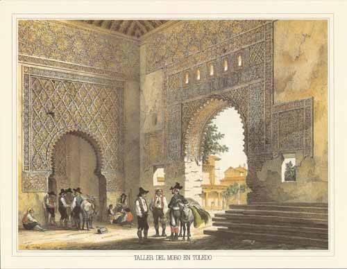 tableaux-cartes-du-monde-dessins - Tableau -Taller del moro en Toledo- - Villaamil, Jenaro Perez de