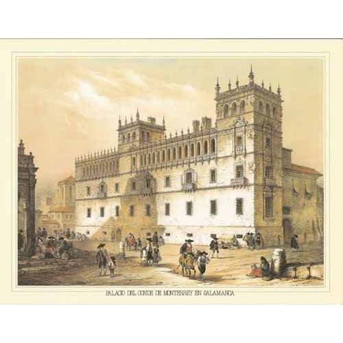 imagens de mapas, gravuras e aquarelas - Quadro -Palacio del Conde de Monterrey en Salamanca-