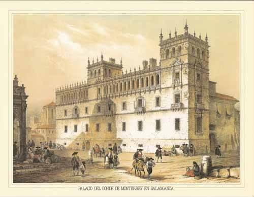 tableaux-cartes-du-monde-dessins - Tableau -Palacio del Conde de Monterrey en Salamanca- - Villaamil, Jenaro Perez de