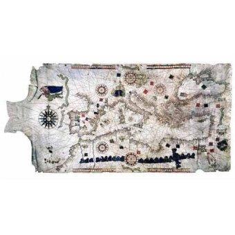 Tableaux cartes du monde, dessins - Tableau -Carte de la Méditerranée sur peau de bélier- - Anciennes cartes