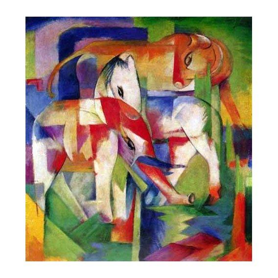 imagens para crianças - Quadro -Elefante, caballo y vaca-