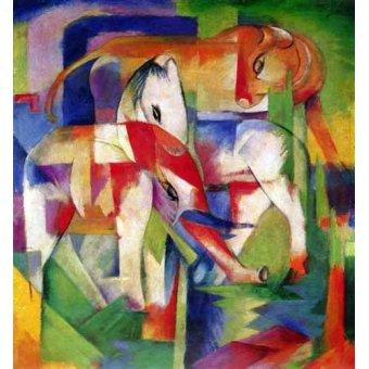 Tableaux pour enfants - Tableau -Elefante, caballo y vaca- - Marc, Franz